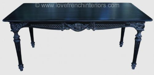 Noir Black French Dining Table